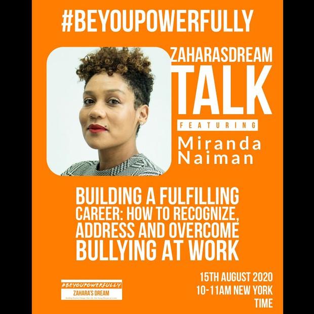Zahara's Dream #BeyouPowerfully Talk on Overcoming Bullying