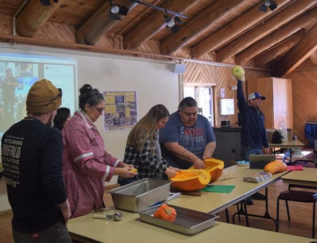 Farming 101 workshop and seed-saving event organized in part by the CMN VISTA and held in February at the Cultural Learning Center. The workshop celebrated the idea that seeds are life, and that saving seeds is important to sustain future generations.