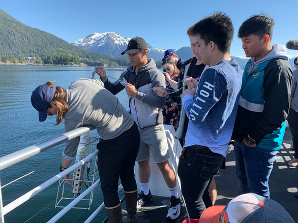 Herring Camp with Sitka High School Students.