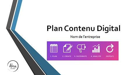 plan contenu