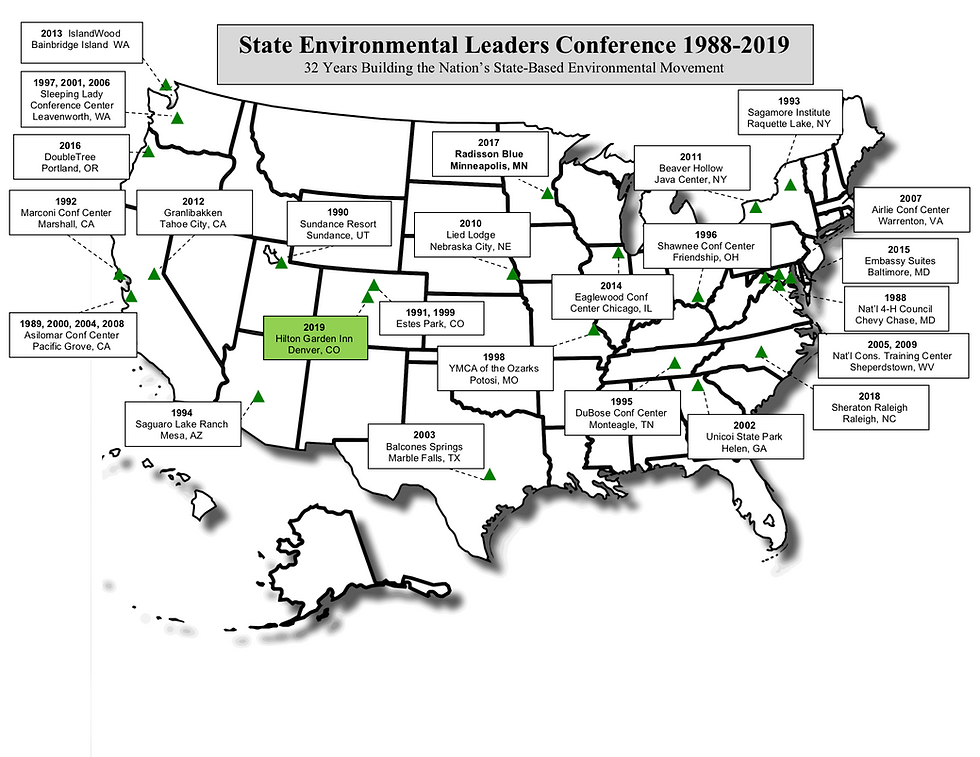Map of State Environmental Leaders Confe
