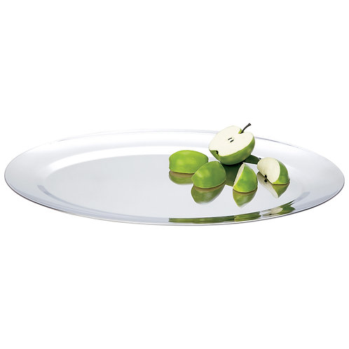 """19"""" T304 Stainless Steel Oval Serving Tray"""