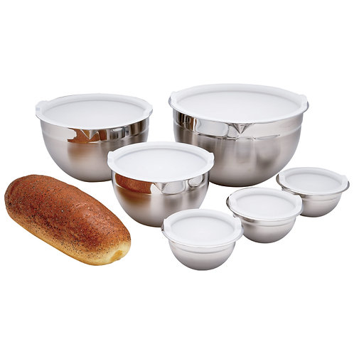 12 piece Stainless  Steel Mixing Bowl Set