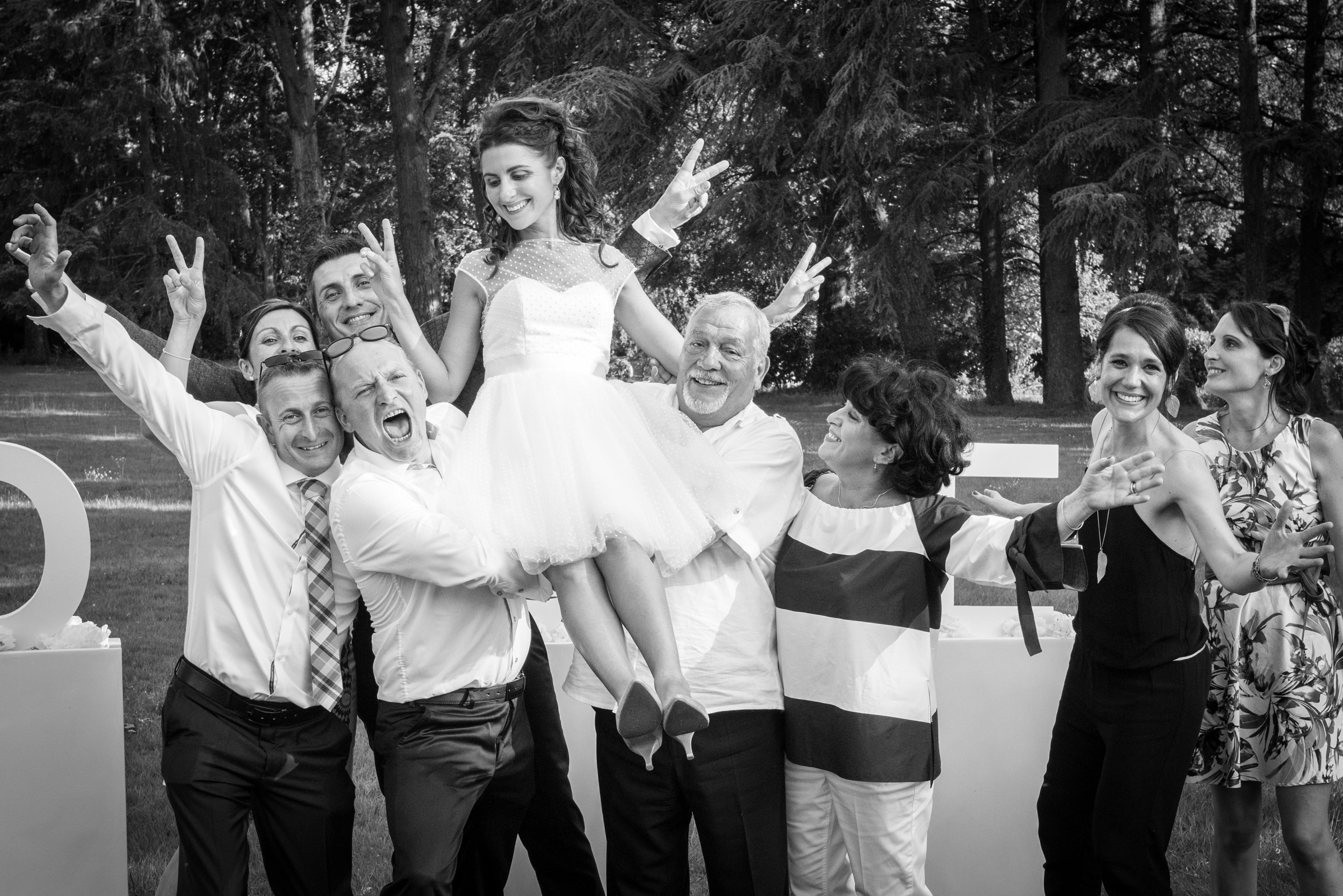 mariage noir et blanc photo