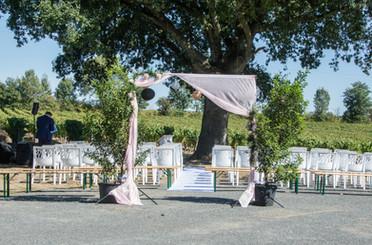 décoration cérémonie de mariage extérieure