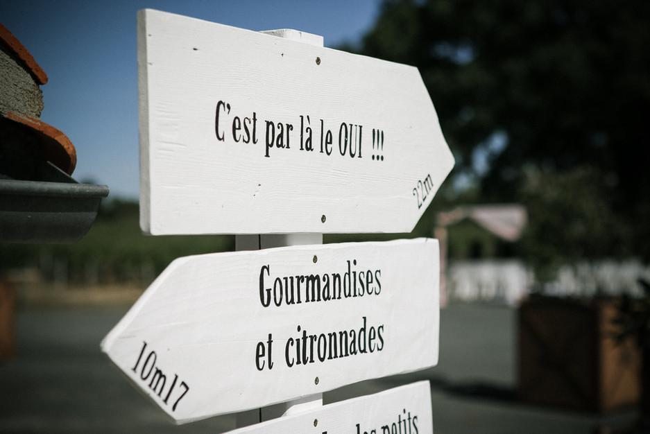 panneaux de direction en bois
