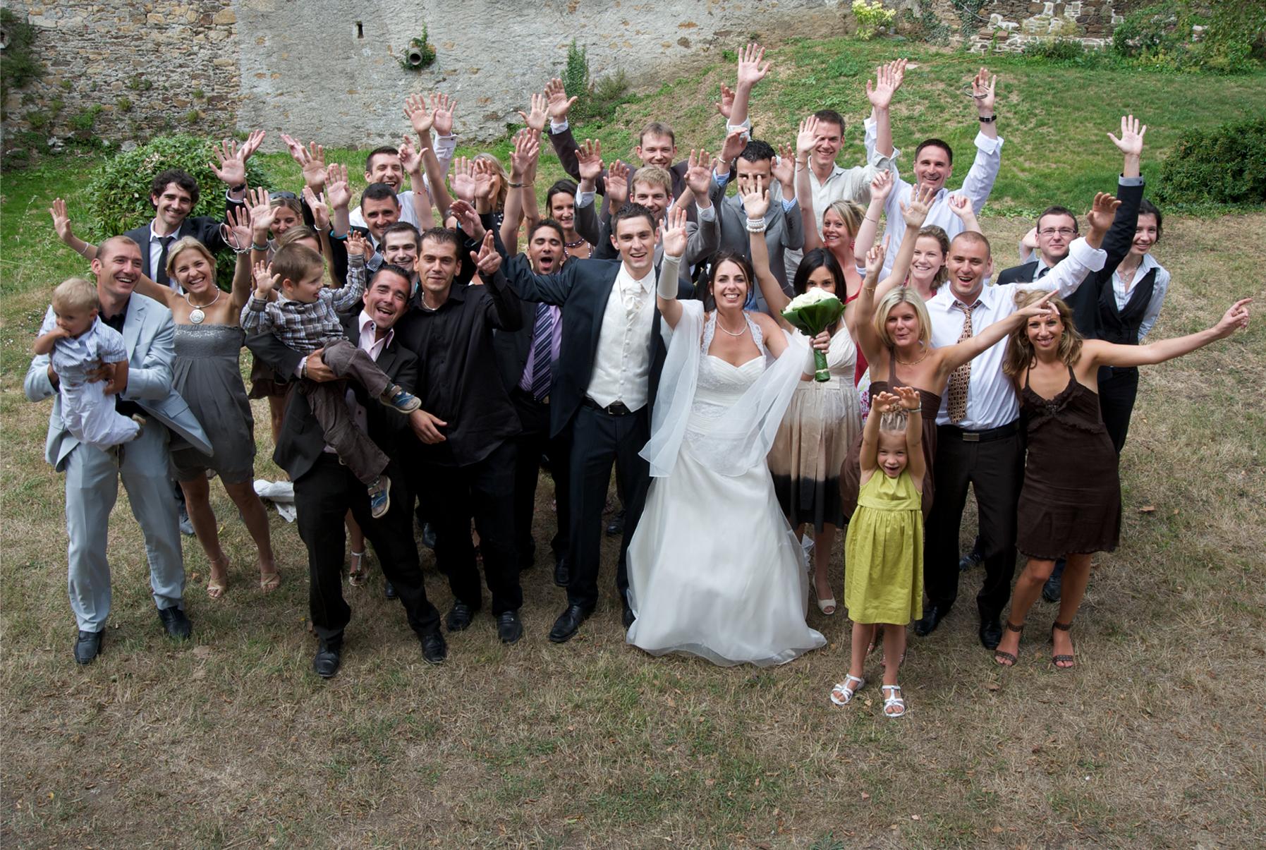 photographe mariage groupe vallet