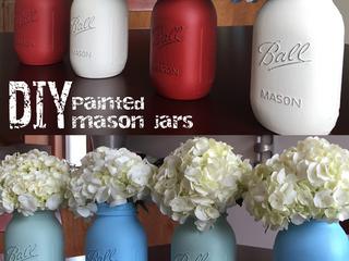 DIY Painted Mason Jars