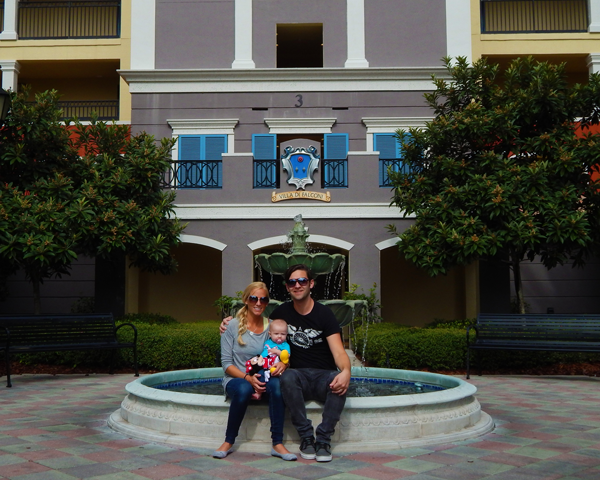 Our little family at our resort