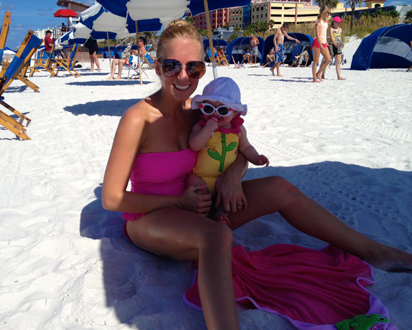 Beach with my baby