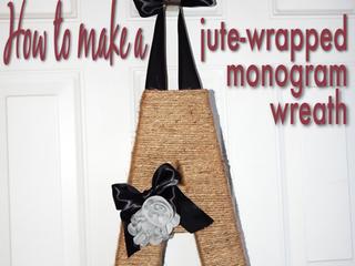 DIT Jute-Wrapped Monogram Wreath