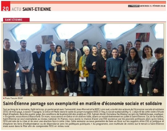 Saint-Étienne as example of Social and Solidarity  Economy (ESS)
