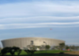 Cape Town Stadium. Situated next to the Metropolitan Golf Course, Mouille Point.