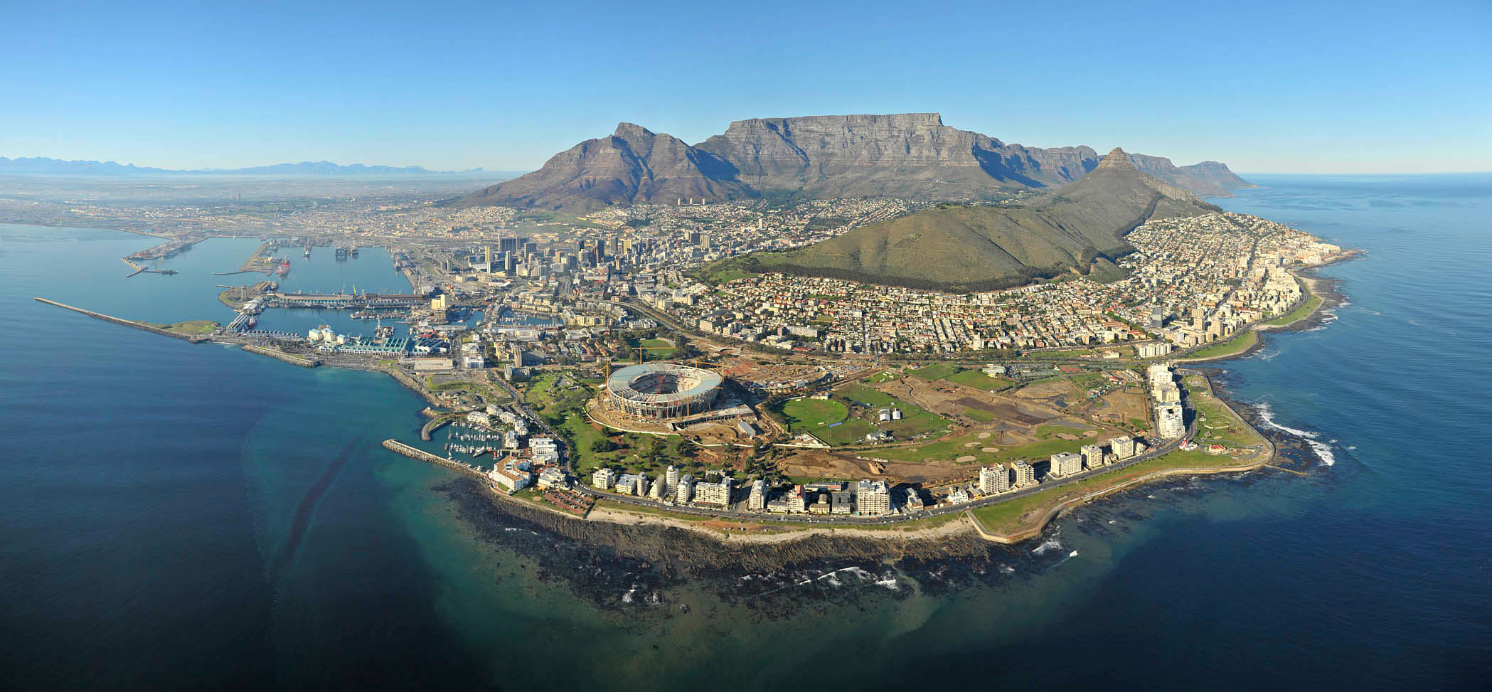 Cape Town Aerial Perspective