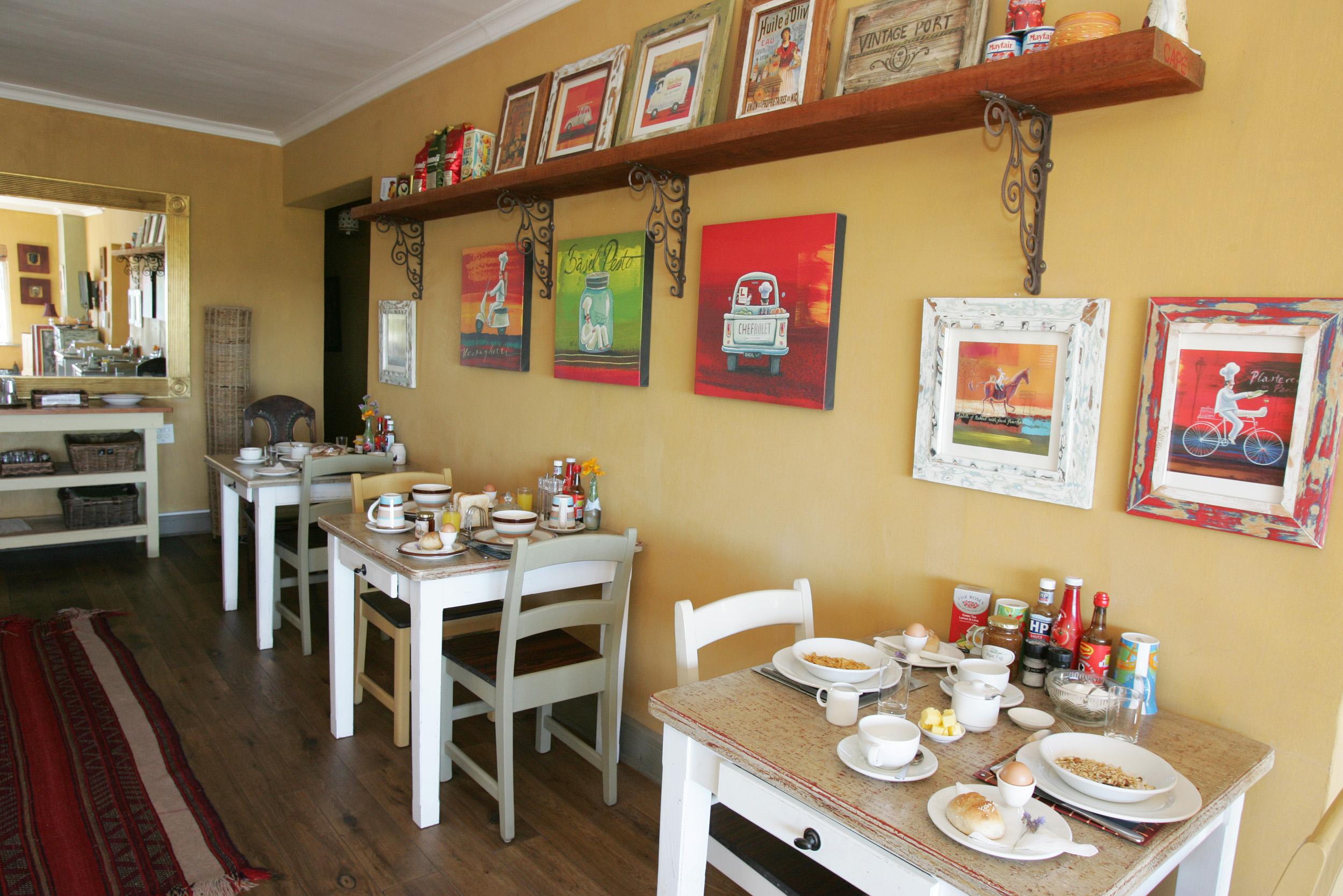 Breakfast area at the Dolphin Inn