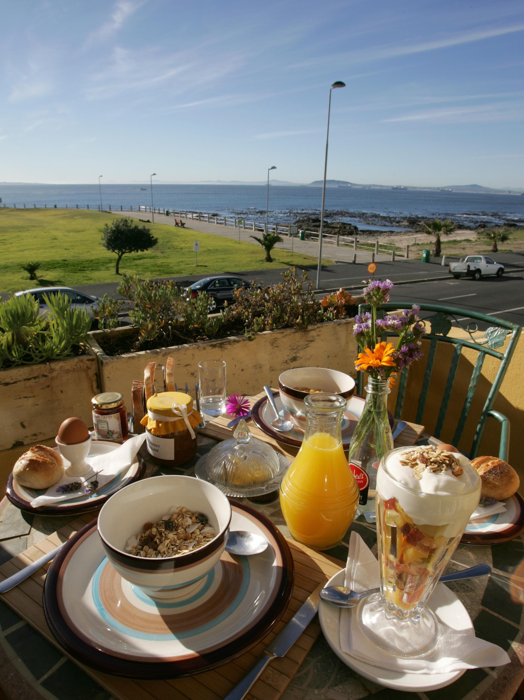 Breakfast on balcony of Deluxe Suite 2