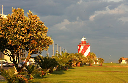 Green Point Lighthouse in Mouille Point. Oldest working Lighthouse in South Africa