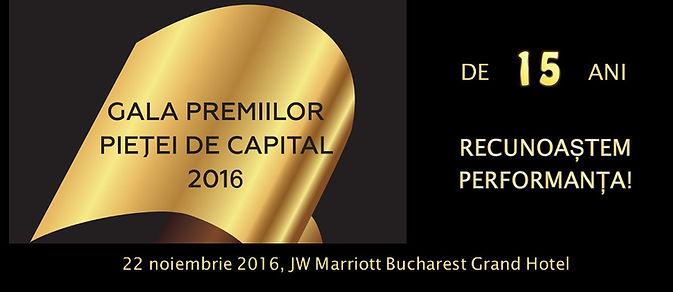 gala premiilor pietei de capital 2016