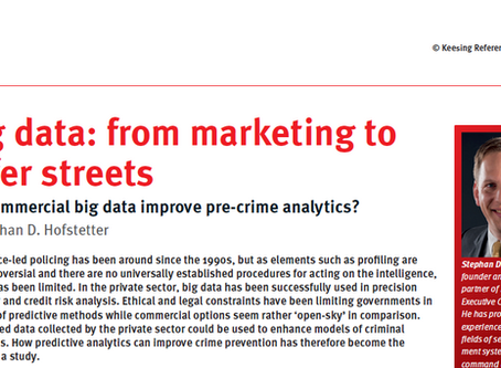 Big data: from marketing to safer streets