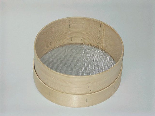Standard Holzsieb mit Edelstahlgewebe, Rechteckmaschen