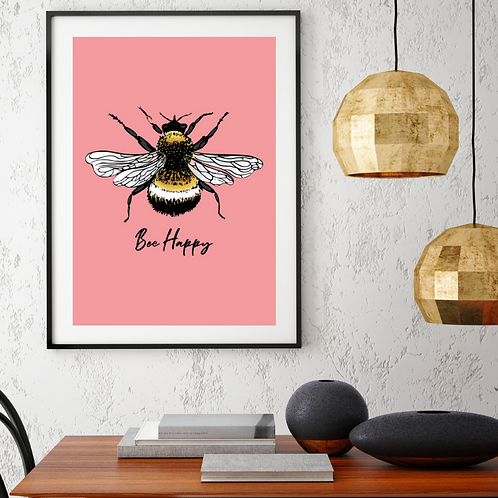 Bee Happy Prints