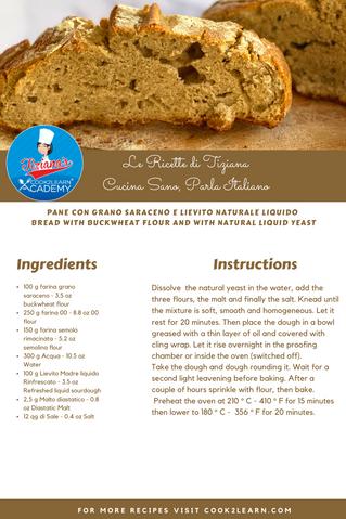 Pane con grano saraceno e lievito naturale liquido