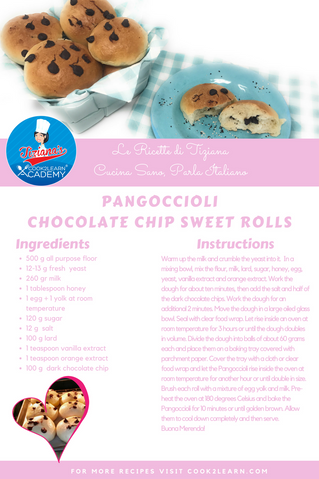 Pangoccioli - Chocolate Chip Sweet Rolls