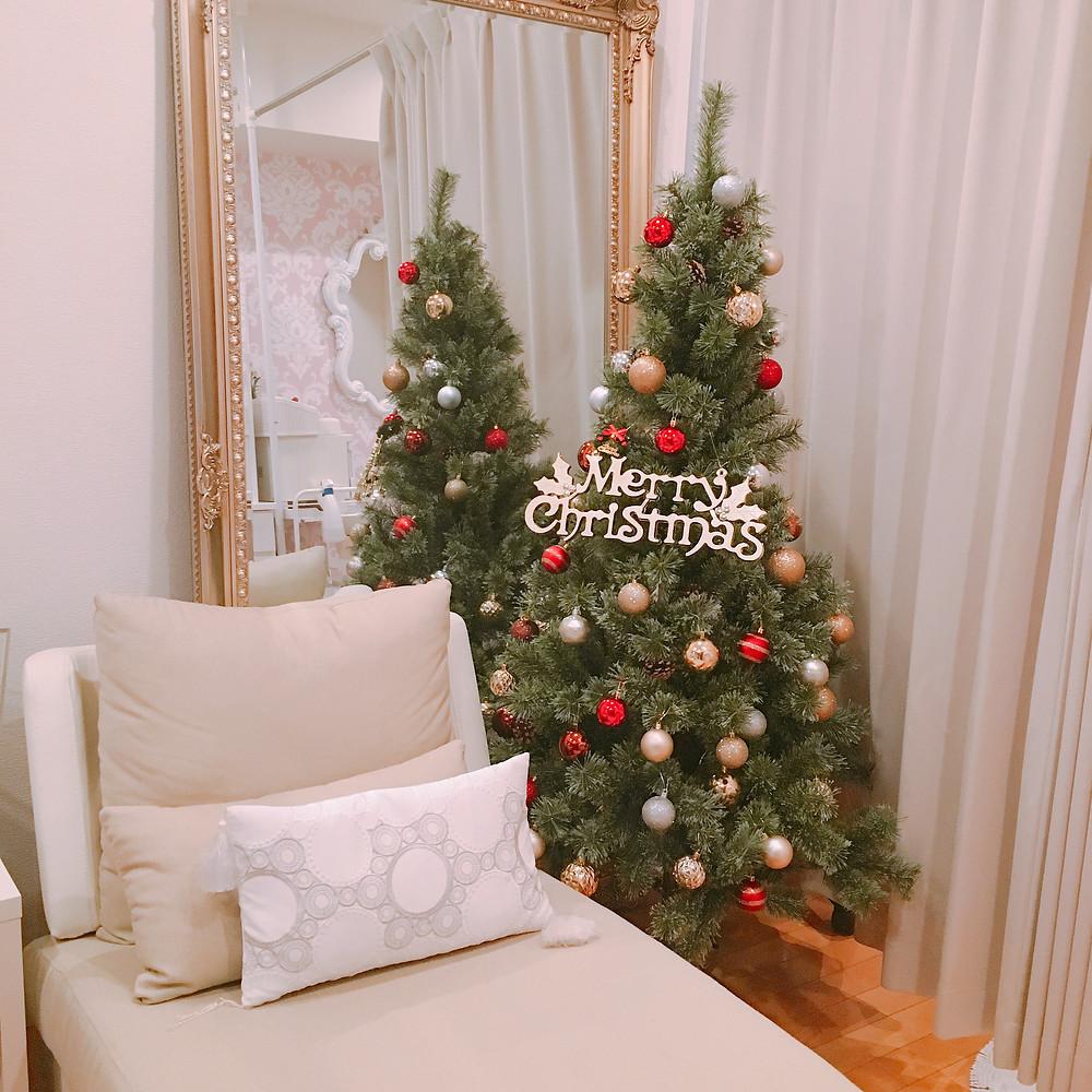 merrychristmas クリスマスツリー 銀座エステ 個人サロン 完全予約制プライベートサロン 脱毛サロン ETERNITYGINZA  全身脱毛 オーダーメイド施術