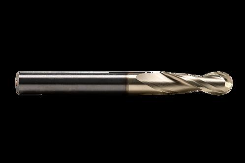 "ø 1/4"" x .780"" LOC x 2-1/2"" OAL, 2FL, High Performance  Carbide Ball Mill, Coate"