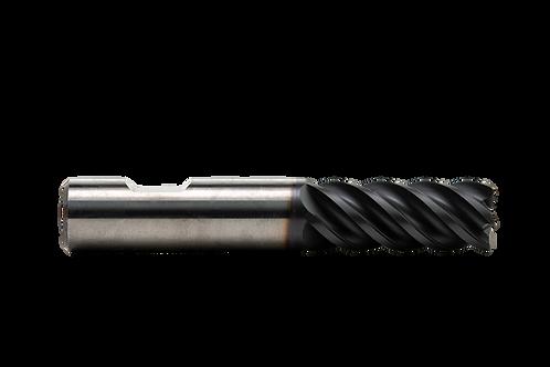 "ø 1/2"" x 1-1/4"" LOC x 3"" OAL, 5 FL, High Performance Carbide End Mill, .030R, Co"