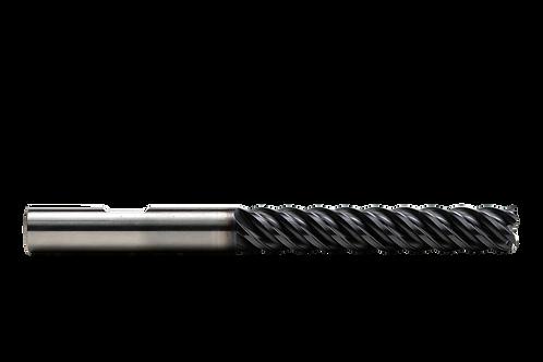"ø 3/8"" x 2-1/4"" LOC x 4"" OAL, 5FL, High Performance Carbide End Mill, .015R, Coa"