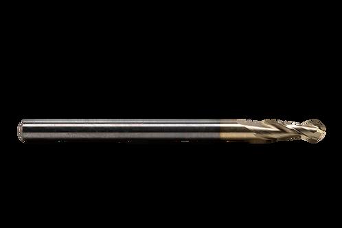 "ø 1/8"" x .380"" LOC x 2"" OAL, 2FL, High Performance Carbide Ball Mill, Coated"