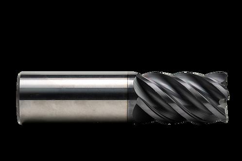 "ø 1/8"" x 3/4"" LOC x 2"" OAL, 5FL, High Performance Carbide End Mill, .010R, Coate"
