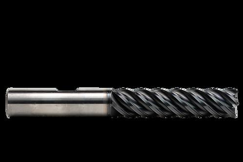 "ø 3/4"" x 3-1/4"" LOC x 6"" OAL, 5FL, High Performance  Carbide End Mill, .030R, Co"