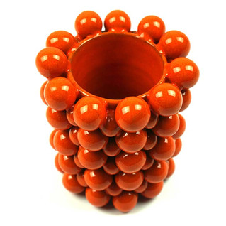 """Vase """"Boulimique""""  Orange"""
