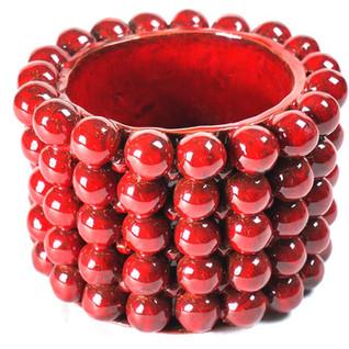 """Vase """"Boulimique""""  Rouge"""