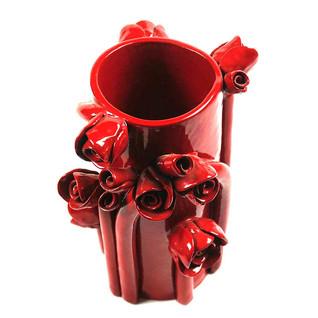 """Vase """"Klimt"""" Rouge"""