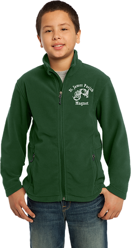 Youth Fleece Jacket - Embroidered Magnet Logo