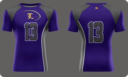 Lutcher Football Compression - Short Sleeve