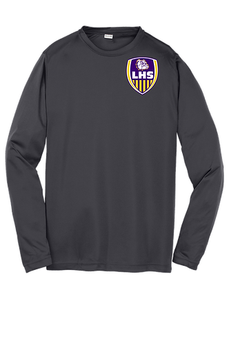 "Lutcher ""Soccer Shield"" Long Sleeve Poly Tee"