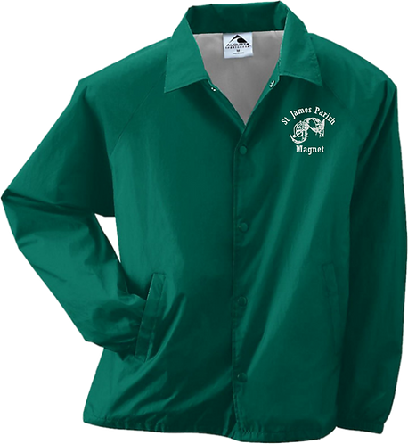 Youth Nylon Coaches Jacket - Embroidered Magnet Logo
