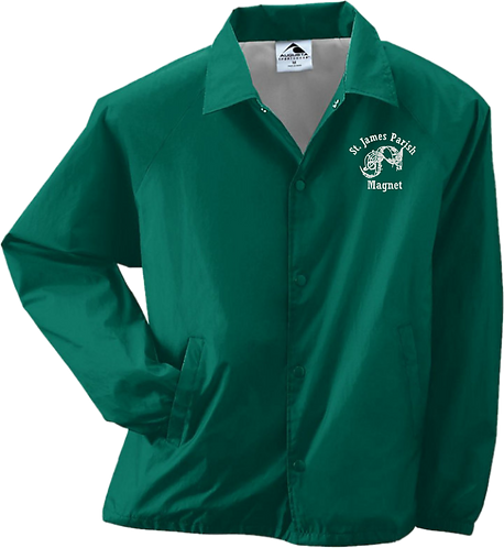 Adult Nylon Coaches Jacket/Lined - Embroidered Magnet Logo
