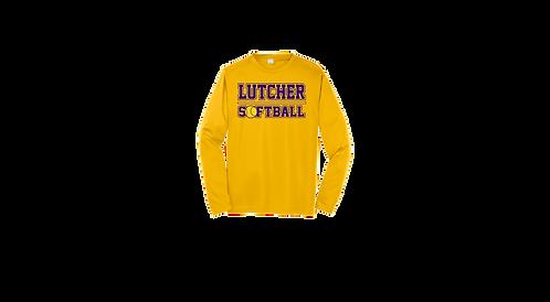 """Lutcher Softball"" Long Sleeve Poly Tee"