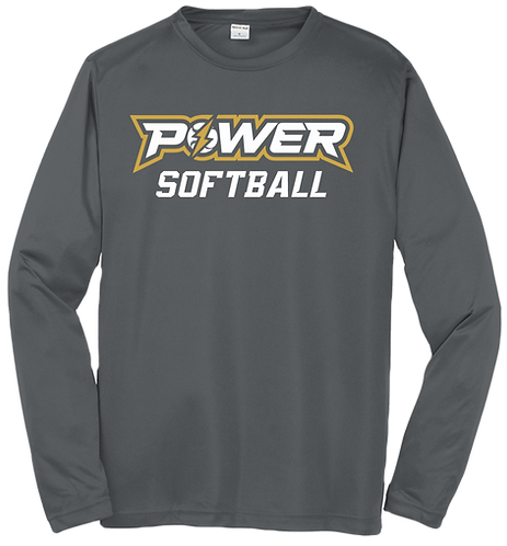 Power Softball Dri-Fit LS Tee
