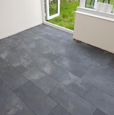 Slate effect laminate tiles