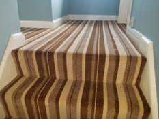 Brown/beige twist stripe