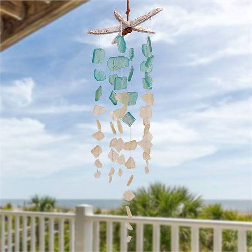 Seaglass and Starfish Windchime