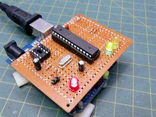 Shield Programador e Gravador de Bootloader (Arduino e ATTiny85)