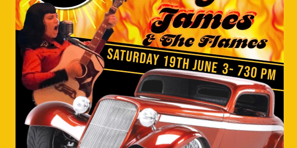 ANNUAL CRUISIN INTO SUMMER TWILIGHT CAR SHOW w/ musical guests JENNY V JAMES AND THE FLAMES