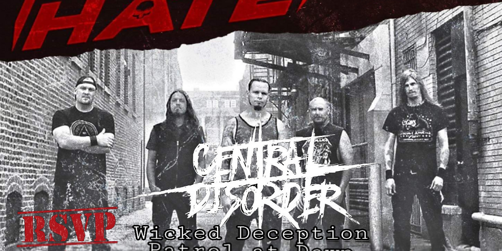 PRODUCT OF HATE | CENTRAL DISORDER | BURNED IN EFFIGY | NEXT TO ETERNITY | PATROL AT DAWN | WICKED DECEPTION